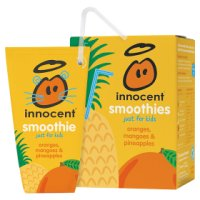 Innocent kids orange, mango and pineapple smoothie 4x180ml