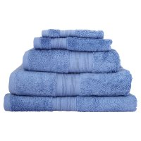 Waitrose Home Egyptian cotton sky bath towel