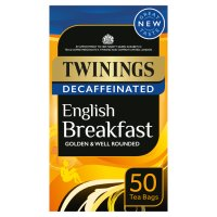 Twinings English breakfast decaffeinated 50 tea bags