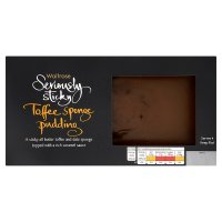 Waitrose Seriously sticky toffee sponge pudding