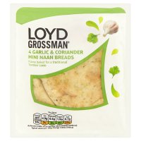 Loyd Grossman garlic mini naans