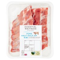 essential Waitrose British Outdoor Bred pork rack of loin ribs
