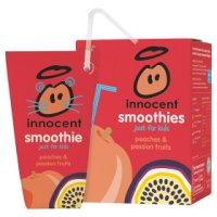 Innocent kids peach and passion fruit smoothie, 4x180ml