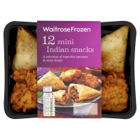 Waitrose Frozen 12 mini Indian snacks