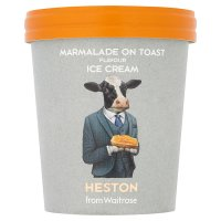 Heston from Waitrose malted milk & marmalade ice cream