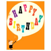 Speech Bubble Happy Birthday Card