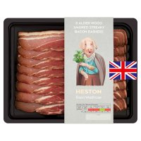 Heston from Waitrose Alderwood smoked British streaky bacon, 8 rashers