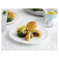 Mini beef wellingtons and mini fish pies
