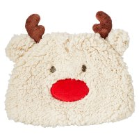 Waitrose NOVELTY FLEECE REINDEER HAT 6-12