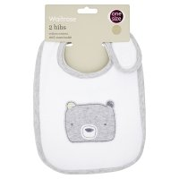 Waitrose new born unisex bibs, pack of 2