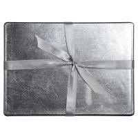 Waitrose Dining silver lacquer placemats, pack of 4