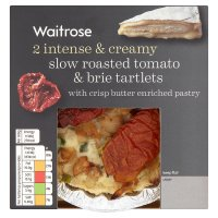 Waitrose 2 slow roasted tomato & brie tartlets