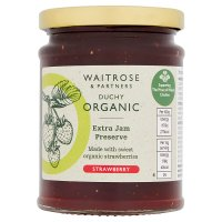 Duchy Originals organic strawberry preserve, extra jam