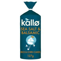 Kallo Sea Salt & Balsamic Vinegar Rice Cakes