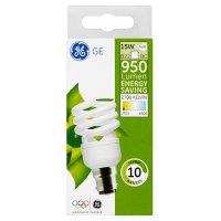 GE energy saving 950 lumen 15W B22 BC spiral