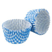 Tala blue gingham cupcake cases, pack of 32