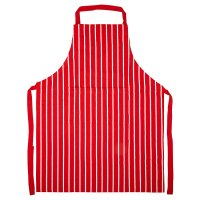 Waitrose Cooking red butchers stripe apron