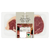 Waitrose 1 Hereford 30 day dry aged beef sirloin steak