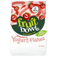 Fruit Bowl Strawberry Flakes with Yogurt Coating 5 pack
