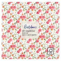 Waitrose Outdoors Ditsy Floral Napkins 33cmx33cm