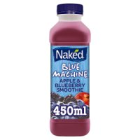 Naked blue machine blueberry smoothie