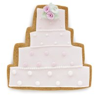 Fiona Cairns Wedding Cake Biscuits (Pink & White)