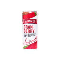 Smirnoff & cranberry juice drink