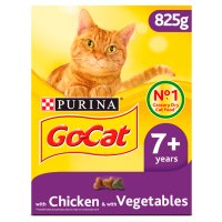 PURINA® GO-CAT® SENIOR Cat with Chicken, Rice & added Vegetables dry food