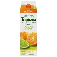 Tropicana orange & lime juice
