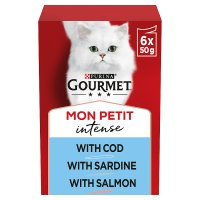 GOURMET Mon Petit Adult Cat Tempting Menu Fish Wet Cat Food Pouch