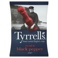 Tyrell's sea salt & black pepper potato chips