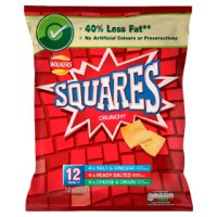 Walkers Squares variety multipack crisps