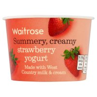 Waitrose strawberry yogurt