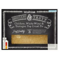 Waitrose chicken, white wine & tarragon pie