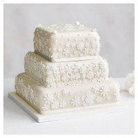 Blossom 3 Tier Ivory Wedding Cake  Lemon sponge (all tiers)