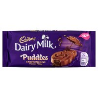 Cadbury Dairy Milk Puddles hazelnut chocolate bar 90g