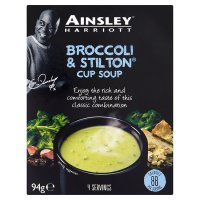 Ainsley Harriott broccoli & stilton cup soup, 4 servings