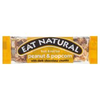 Eat Natural peanut & popcorn dark chocolate fruit & nut bar