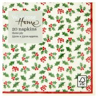 Waitrose Home Holly Napkins