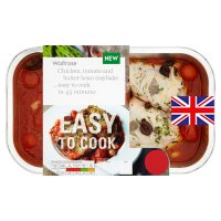 Easy to Cook chicken, tomato, butter bean traybake