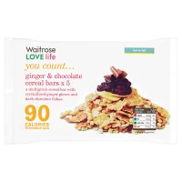 Waitrose LOVE Life you count  Ginger & Chocolate Cereal Bars x 5