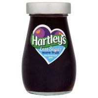Hartley's less sugar blackcurrant jam