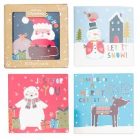 Waitrose Christmas 30 Cards in Cube