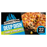 Chicago Town ham & pineapple deep dish pizza