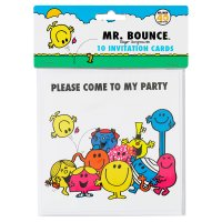 Mr. Men invitation cards