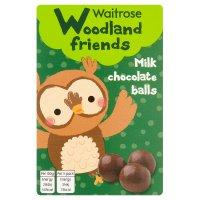 Waitrose Woodland friends milk chocolate balls