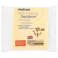 Waitrose Davidstow mature Cheddar cheese, strength 5