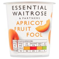 Waitrose apricot fruit fool