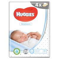 Huggies Newborn Baby Wipes Quad Pack