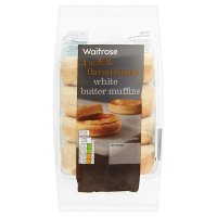 Waitrose white butter muffins